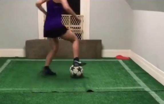 Melissa Soto entrena en su altillo