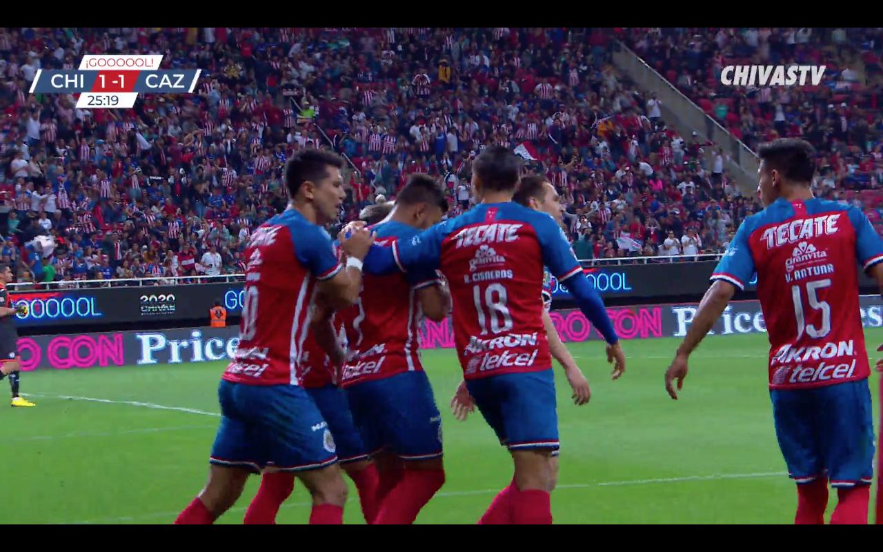 Gol de Alexis Vega. Chivas 1-1 Cruz Azul